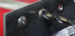 drilling a rivet
