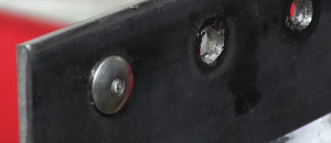 the hole after a rivet is removed