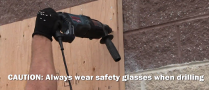 Hammer Drilling frame into door