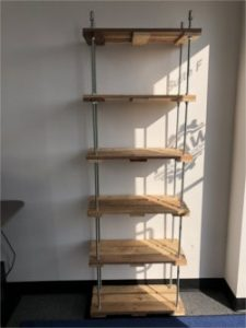 Completed Threaded Rod Pallet Shelf - Empty