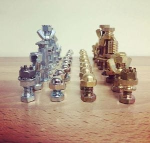 DIY Chess Set Fasteners