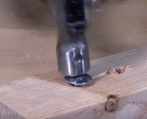 hammering in a carriage bolt