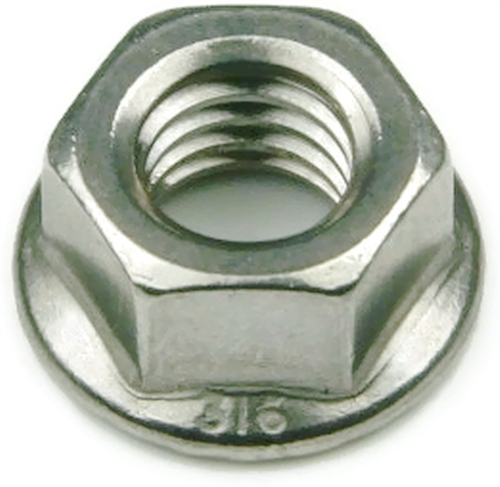 316 Stainless Steel Hex Serrated Flange Nuts