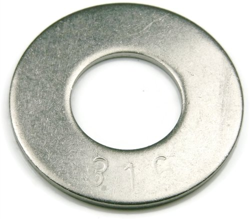 316 Stainless Steel Flat Washer 5//16 Qty 100