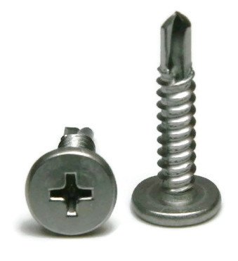 12 Stainless Steel Phillips Pancake Head Self Drilling Screws