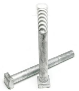 6 Thread//Steel//Hot Dipped Galvanized Quantity: 5 1//2-13 X 16 Carriage Bolts