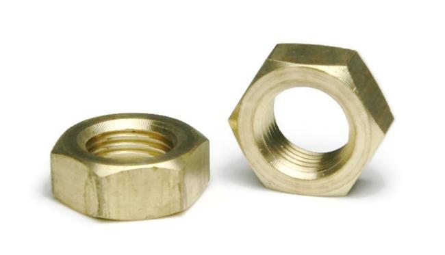 Brass Hex Jam Nuts