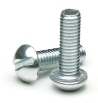 10 32 Slotted Round Head Machine Screws Zinc
