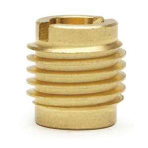 Metric Thread Insert for Wood, Brass #400-M6, M6 x  500