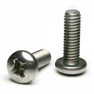 M3-.5 X 8 Phillips Flat Machine Screw A2 Stainless Steel Package Qty 100