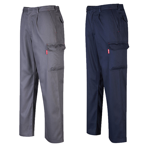 Portwest Bizflame Pro Fire Resistant Safety Workwear Trousers Navy Small Large