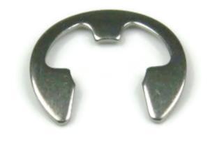 bowed E retaining ring