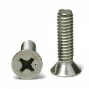 "1//4/""-20 x 3//4/"" Phillips Flat Head Machine Screws Stainless Steel Qty 25"