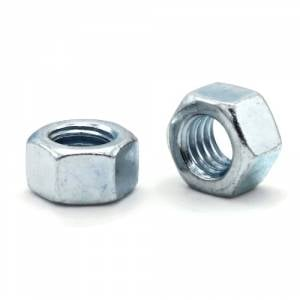 1//4-20 Zinc Coated Hex Nuts Pack of 8