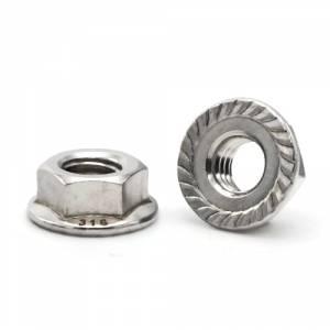 100 ea Stainless Steel Self Locking Nuts