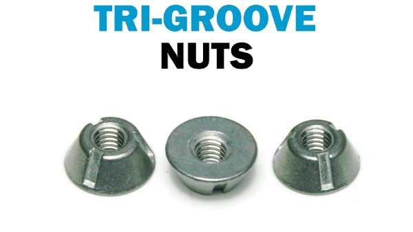 Tri-Groove Security Nuts