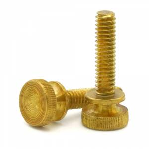 1 4 20 Brass Knurled Thumb Screws