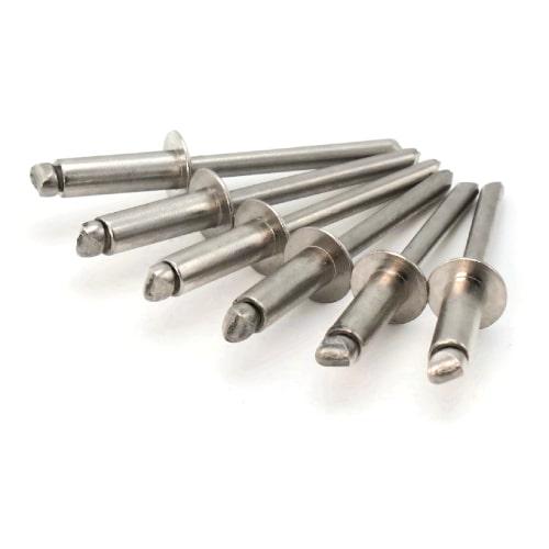 1//8 x 3//16 Grip QTY 1,000 Pop Rivets 1//8 Diameter #4 All Steel Blind Rivets 4-3 0.126-0.187