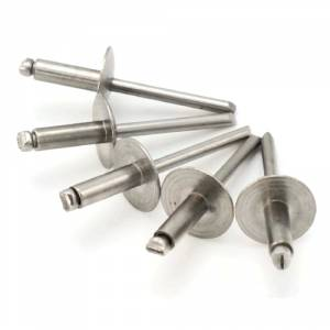 """Quantity 100 Details about  /Large Flange Pop Rivets Stainless Steel 1//8/"""" x 1//2/"""" Size 4-8"""